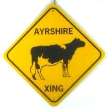 Ayrshire Xing Aluminum Cow Sign Won't rust or fade
