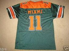 Miami Florida Hurricanes #11 Football Jersey Youth M 12-14 medium