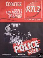 PUBLICITÉ ÉCOUTEZ RTL2 THE POLICE LIVE CONCERT ET PARTEZ A LOS ANGELES