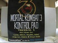 Sega Genesis Mortal Kombat 3 III Licensed Control Pad V1 New Midway