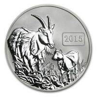 2015 Tokelau 1 oz Silver $5 Year of the Goat Reverse Proof
