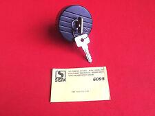 Tankdeckel Fiat Panda 5/84-1/86 Sispa 6095 abschließbar Schloss 2 Schlüssel NOS
