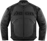 New Icon sanctuary stealth black leather motorcycle jacket GSXR CBR R6 R1 ZX BMW