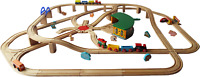 Large Wooden Train Set, BRIO Bigjigs compatible, huge railway track, 3 layouts