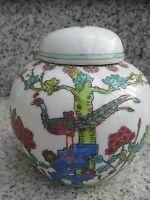 Pot à Thé Porcelaine CHINE Décor OISEAU  11 cm haut