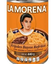 La Morena Refried Pinto Beans with Adobo and Chipotle 3 x 440g