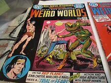 WEIRD WORLDS COMIC BOOK - 1 - 2 - 3 - JOHN CARTER - 1972
