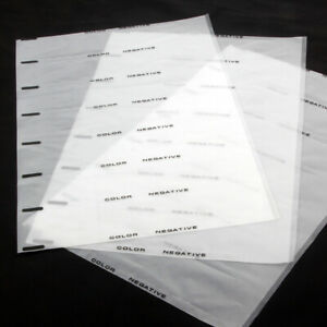 40x Acid-Free Archival Storage Sheet Protector 35mm 135 B&W Color Negative Slide