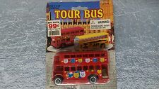 Diecast Tour Bus, Double Decker Red, Midwestern Home Products