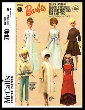 Barbie Midge Fashion DOLL Fabric Sewing & Knitting Pattern Mattel McCall's #7840