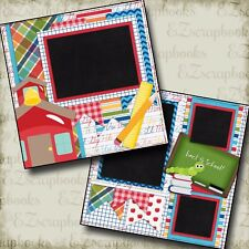 BACK to SCHOOL - Premade Scrapbook Pages - EZ Layout 370