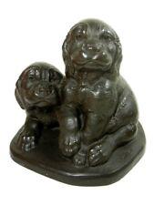 Joseph Boulton Cocker Spaniel Puppy Dogs Puppies Bronze Sculpture Statue Rare