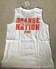 Victoria's Secret PINK Collegiate Syracuse Orange Nation Tank Top Sz M NWT