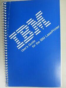 IBM User's Guide for the IBM LaserPrinter (P/N 1058223)