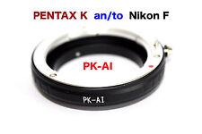 PK - Nikon  Al    Pentax K Objektiv Lens Adapter an -To Nikon AI Kamera