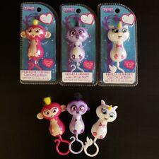 NEW Fingerlings Lip Gloss 3 CT - Purple Sloth, White Unicorn, Pink Monkey