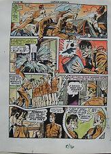JACK KIRBY Joe Simon CAPTAIN AMERICA #8 pg 16 HAND COLORED ART Theakston 1989 Comic Art