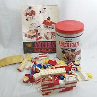 American Plastic Bricks set #705 Elgo Plastics Halsam Products Co 143 Pieces