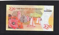More details for special issue guernsey ww1 commemorative £20 note. low prefix tgw 004162 unc