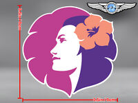 HAWAIIAN AIRLINES CUT TO SHAPE OLD LOGO DECAL / STICKER