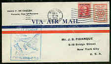 CANAL ZONE, 1929, 2¢ Air Postal Env, w/Centered Inscription var., First Flight
