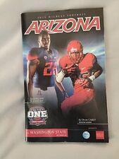 2015 Arizona Football College Gameday Program Arizona-Washington State
