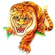 """Tiger Patch Large Boxing Sports Iron On DIY Craft 8.5"""" Embroidered Back Applique"""