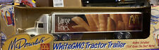 McDONALD'S WHITE GMC TRACTOR TRAILER LARGE FRIES 1996 DIE CAST