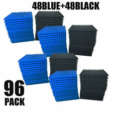"96 PACK 12""X 2""X1"" Acoustic Foam Panel Wedge Studio Soundproofing Wall Tiles-USA"