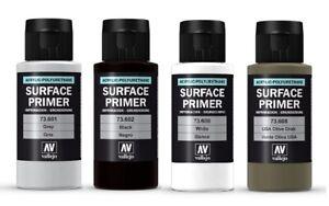 AV Vallejo Polyurethane Primer Airbrush Paint -  All Colours Available 60ml