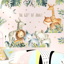 Wall Stickers Animals Zoo Forest Removable Decor Kids Nursery Baby DIY Gift