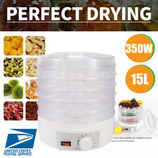 5 Tray Food Dehydrator Temperature Adjustable Control Fruit Dryer Meat Jerky Us