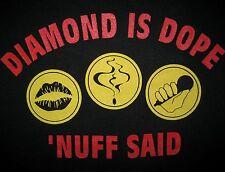 DIAMOND D IS DOPE 'NUFF SAID 1992 Stunts Blunts& hip hop T-shirt vtg 90s DITC XL