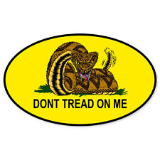 "Don't Tread on Me Flag Oval car bumper sticker window decal 5"" x 3"""
