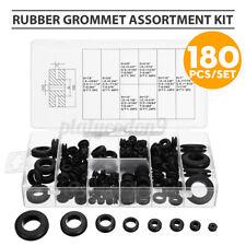 180pcs Rubber Grommet Assortment Kit Electrical Wiring Gasket Firewall #@