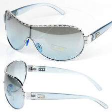 New DG Mens Designer Shield Sunglasses Fashion Blue Wrap One Lens Around Retro