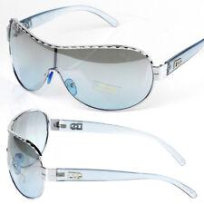 New DG Mens Designer Shield Sunglasses Fashion Blue Wrap One Lens Around Retro