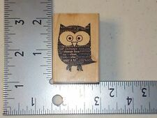 HERO ARTS #D5562 NEWSPAPER OWL WOOD MOUNTED RUBBER STAMPS NEW A1668