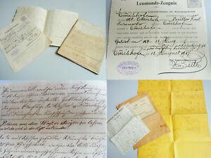 Documents Pyrotechnische Factory Emmishofen 1838-1937: Zauber-Rezepte, Letters