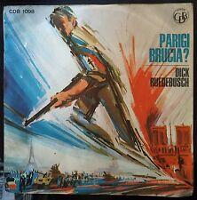Dick Ruedebusch – Parigi Brucia? 45 giri 1966 VG++/EX++ Colonna Sonore M. Jarre