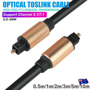 Toslink Optical Fiber Cable Digital Audio Lead Core For TV Surround Sound