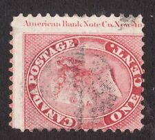 #14vii Imprint Margin  Queen Victoria Canada - 1c - 1859 - Used -  superfleas -