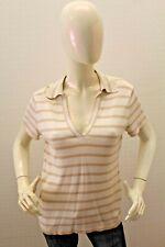 Polo TOMMY HILFIGER Donna Maglia in seta Maglietta T-shirt Woman Taglia Size XL