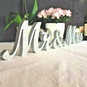 WEDDING TABLE DECORATION 6 INCHES MR & MRS LETTERS TABLE SIGN TABLE HOT STANDING