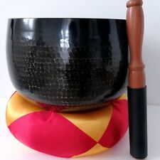 "LARGE ZEN TEMPLE BELL,12"" SINGING BOWL,NEW KEISU BUDDHIST GONG BRONZE INSTRUMENT"