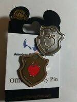 Disney Pins WDW 2018 Hidden Mickey *Icon Crest* Series Apple Snow White & Chaser