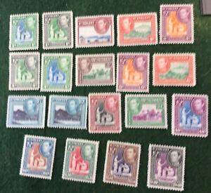 St Vincent 1949 George VI Definitive Set SG164/77 Mounted Mint C/V £45.00 2018