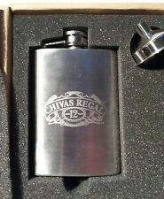 CHIVAS REGAL 12 YEARS OLD STAINLESS STEEL 4 OZ. HIP POCKET  FLASK.BRAND NEW.