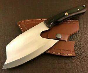 Handmade Axe-Hatchet-Carbon Steel-Bush Craft-Camping-Leather Sheath-Ch42