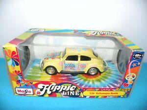 Maisto Hippie Line Volkswagen Beetle Car 1:24